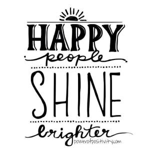 happy people shine